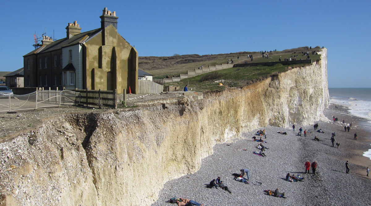 Birling Gap is prone to cliff falls