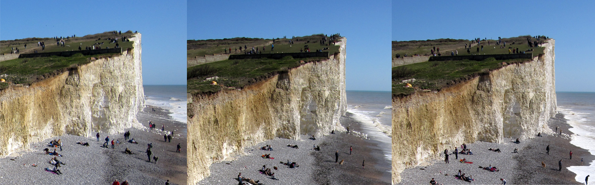 The cliff edge at Birling Gap