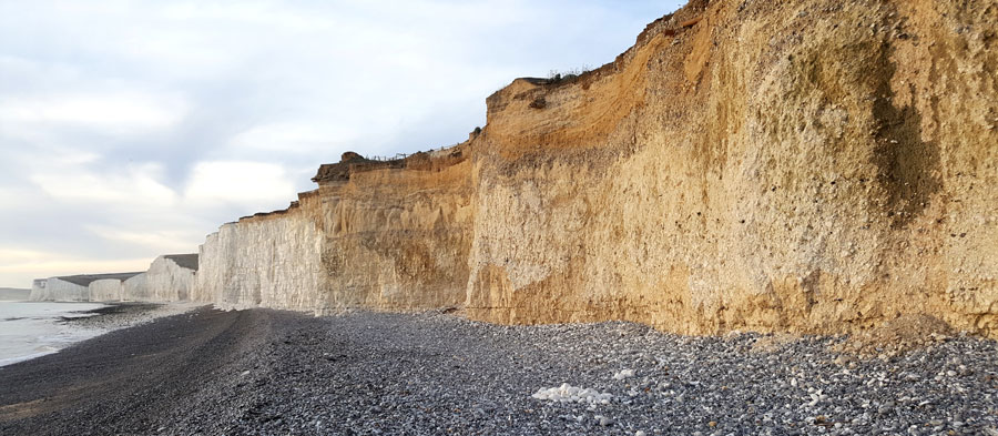 Birling Gap Chalk Cliffs and Coombe Rock