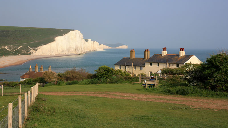 Coastguard Cottages and the Seven Sisters