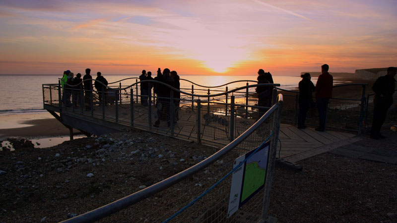 Sunset at Birling Gap
